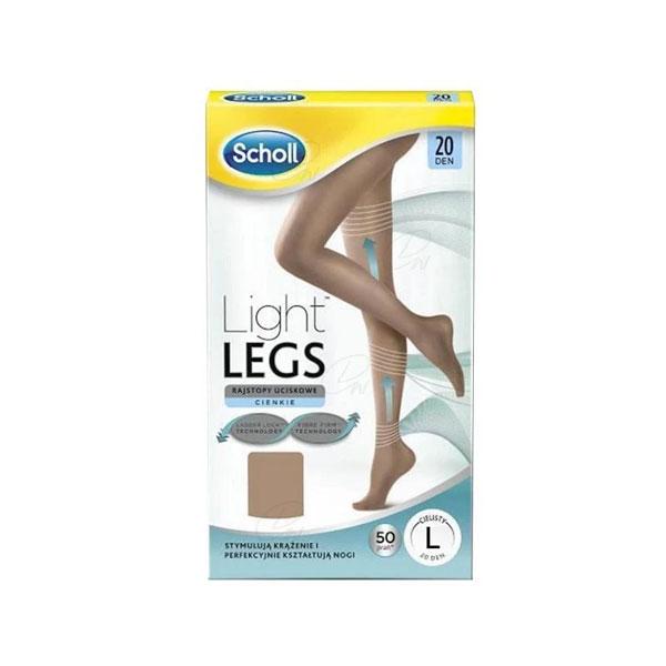 Dr Scholl Light Legs Medias De Compresion 20 Den Color Carne Talla L